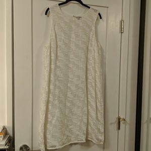 Shimmering white dress